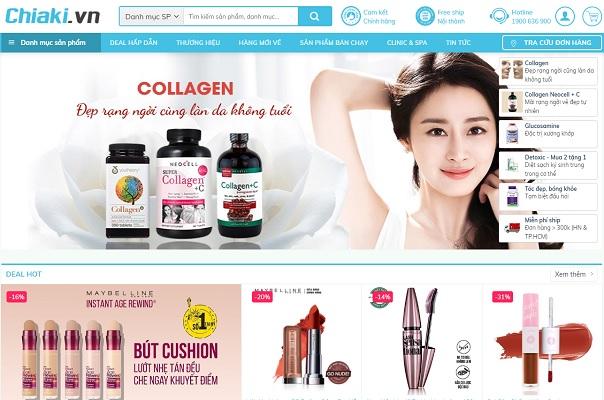 Theme Wordpress mỹ phẩm - Chiaki.vn
