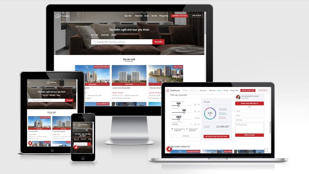 Theme Wordpress bất động sản cao cấp - Mẫu số 33